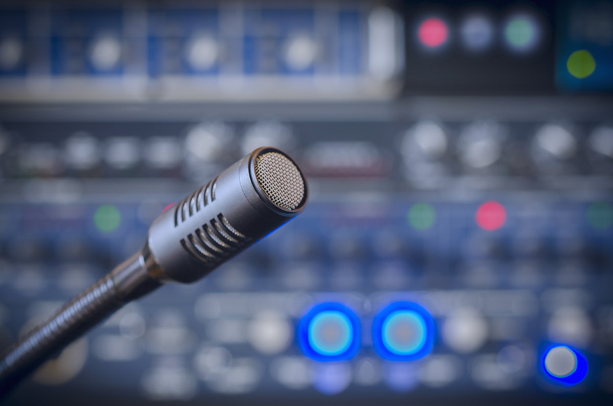 Media Services Microphone with Equipment Image